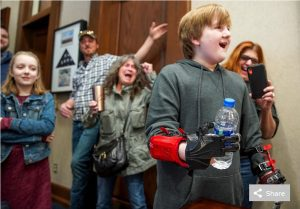 Censis Director of IT Lends a Hand with Technology: Anthony Economos spent last year designing 3-D–printed hands for a local boy
